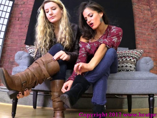 ChiChi and Chloe Need Be Locked Chastity Before Worship Our Feet (2017)