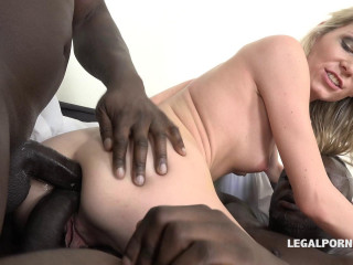 Blond Babe Claudia Mac Destroyed By Big Black Cocks With Double Anal