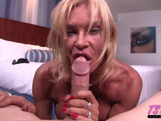 Mature Euro TS seduces your cock