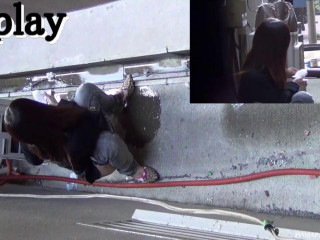 Urinate Japan TV Outdoor Pissers 16