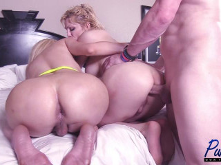 Big Booty Cuban TS Girlfriends Get Fucked Together