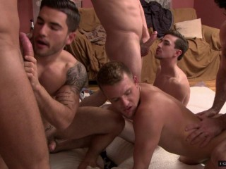 Best Gang Bang With Muscle Fuckers
