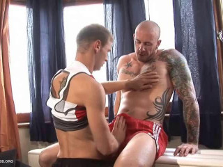 HBLads - Suspended Muscle Dads And Fit Youthfull Twinks