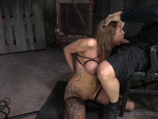 Sybian blasted out of her mind, Rain DeGrey cums repeatedly while facefucked hard