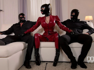 Latex Lucy - Mystery Masks – Latex Loving Threesome For Fetish Lovers
