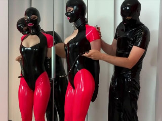 Super bondage, torture and domination for beautiful slut in latex