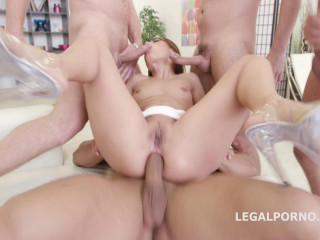 DAP Gangbang For Blond Whore