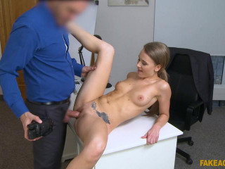 Carmel Anderson - Office fuck for sexy British model