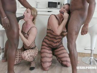 Sindy Rose & Simony Diamond Gangbanged By Big Black Dicks With DP