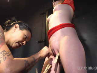 Angel Smalls drilled and fisted by domina