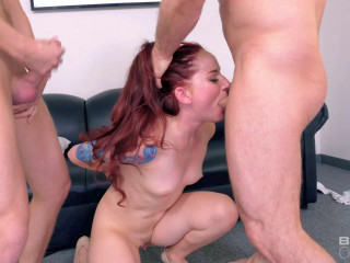 Ariel Blue - Redhead Fucked And Double Penetrated In A Gangbang (2017)