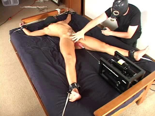 Tied Suspended and Machine Fucked