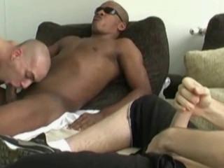 Rough Interracial Threesome Fuck