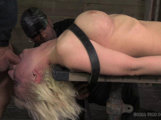 Cherry Torn belted down, planked and stuffed full of cock, HD 720p