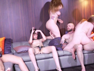 Amazing Gangbang Party With Hot Shemales