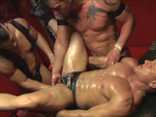Fist Orgy In DarkRoom