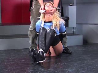 Necktied in Blue! Tasha Marley