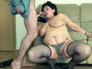 Eve, the chubby old MILF trying out porn for first time