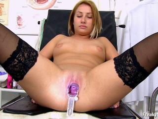 Blonde Euro Teen Katya Naughty Obgyn Clinic Exam - HD 720p