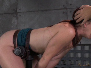 Dungeon space slave Cici Rhodes rigorously restrained