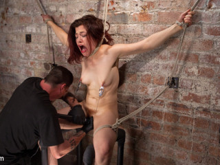 Sumptuous Anguish Mega-slut in Extraordinary Bondage, Tormented, Punished, and Made to Jizm Against Her Will
