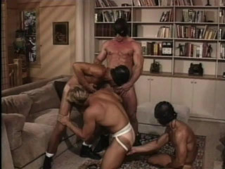 Muscle Buttbusters In Retro Orgy