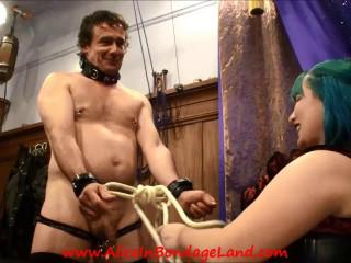 Footsub Chastity Footjob Electric CBT -Plus Bonus- Licking Cum Off My Feet Part 1