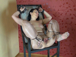 Nylon, gyn chair, orgasm - Scene 2 - HD 720p