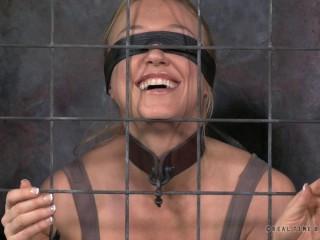 Real Time Restrain bondage - Darling blindfolded, encaged and tagteamed by dick! - Apr 1, 2014