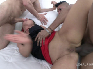 Rough anal orgy with DAP & triple penetration