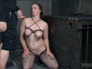 Busty Bella Beautifully Bound Backwards Beaten with Boners