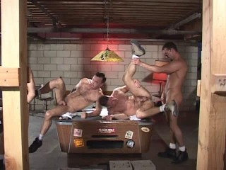 Anal Party With Massive Muscle Bears