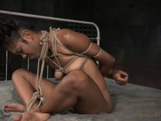 Tied Lotus Lain toughly fucked and used hard, unbelievable salivating blow and splooging orgasms!