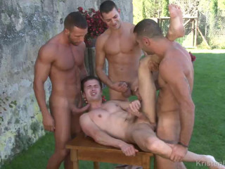 Mountain Orgy With Hot Males