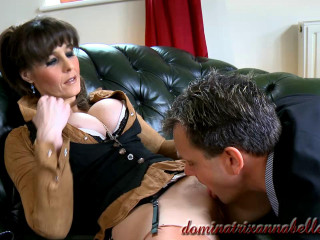 The guy took a rubber cock in his mouth to satisfy his insatiable girlfriend