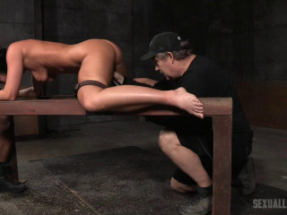 Bound and split in half by giant cock with droolin-rough bdsm porn