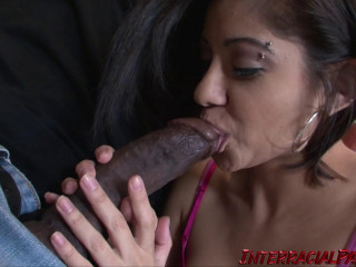 Vanessa Says This Big black cock is Plumbing Her In the Lungs!!
