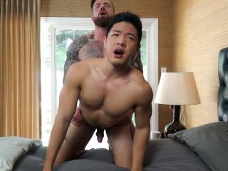 Jordan Levine feeds new guy Cooper Dang his geyser