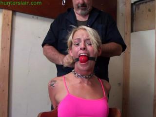 HunterSlair - Bella Lovez - Handcuffed toe-tied & tickled