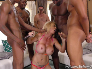 Ideal Brooke Tyler In Raunchy Gang-fuck With Dark-hued Jizz-shotguns