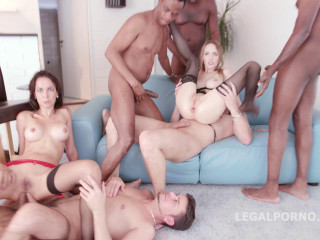 Raw Gangbang With 8 Huge Dicks