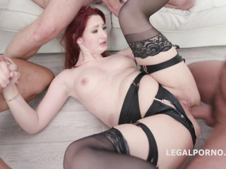Manhandle Violet Monroe gets harsh 5on1 intercourse with DAP & TP
