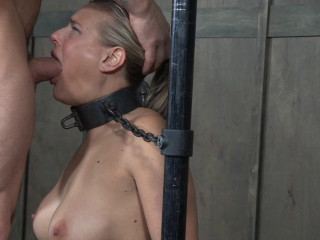 Angel Is Neck Strapped On A Sybian