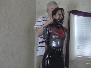 Latex Leather Strap Hogtie - Enchantress Sahrye - HD 720p