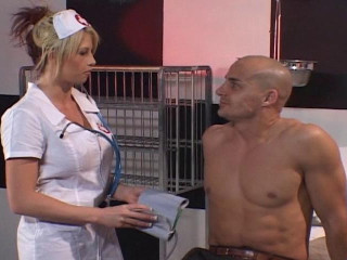 Blonde nurse plunged