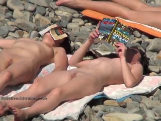 Sexy chicks at the nudist beach