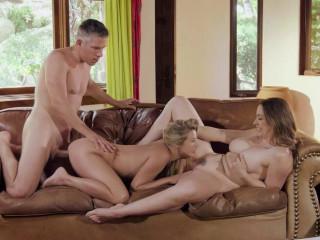 Threesome  whith   Carolina Sweets ,Chanel Preston
