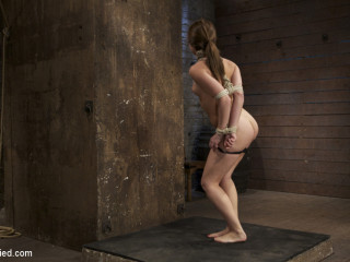Nice girl next door, bound, face fucked, made to jizz over & over, brutish restrain bondage and pussy torture!