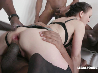 Ally Styles loves to get two cocks in the ass and enjoys pissing (2018)