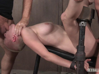 Riley Nixon aggressively pounded, leaving her a slobbering dripping, choking mess!